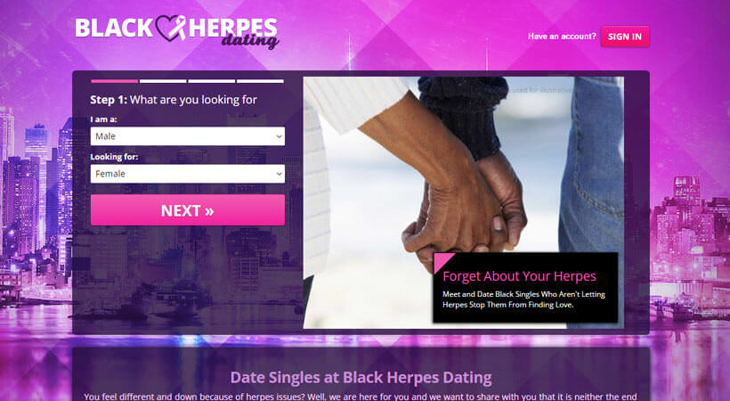 Black Herpes Dating homepage