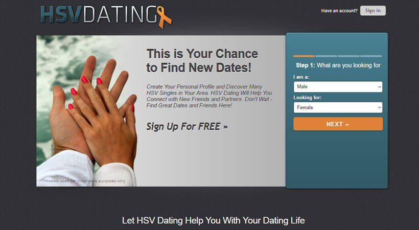 HSV Dating homepage